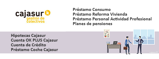 Oferta exclusiva de Cajasur para los colegiados al COLEGIO DE MÉDICOS DE SEVILLA