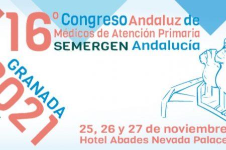 El 16º Congreso Andaluz de Médicos de  Atención Primaria SEMERGEN-Andalucía se celebrará en noviembre