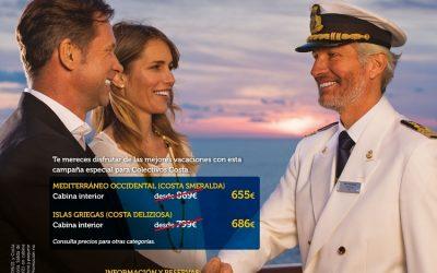 Costa Cruceros ofrece tarifas exclusivas a sanitarios