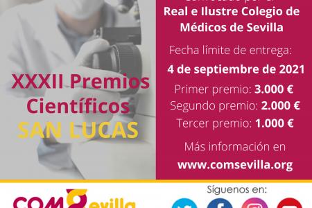 El RICOMS convoca la XXXII edición de los Premios Científicos «San Lucas»