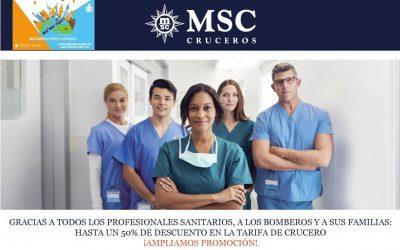 MSC Cruceros ofrece descuentos de hasta un 50% para que los profesionales sanitarios puedan disfrutar de unas merecidas vacaciones
